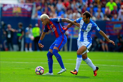 Leganes 1-5 Barcelona Messi lap ky luc hinh anh