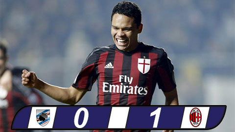Sampdoria 0-1 AC Milan Carlos Bacca cuu roi Rossoneri hinh anh