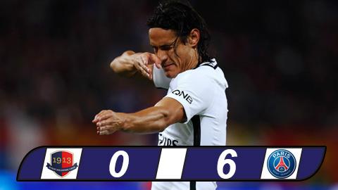 Caen 0-6 PSG Chan go Cavani vut sang hinh anh