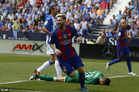Leganes 1-5 Barcelona Messi lap ky luc hinh anh 2
