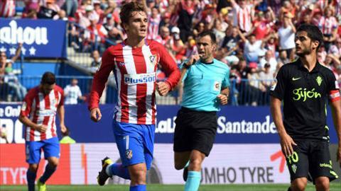 Tong hop Atletico Madrid 5-0 Gijon (Vong 4 La Liga 201617) hinh anh