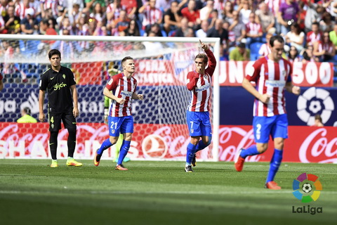 Atletico Madrid 5-0 Gijon Suc manh dich thuc hinh anh