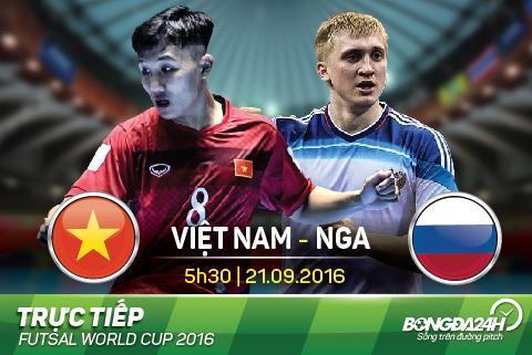 LINK XEM truc tiep Futsal Viet Nam vs Futsal Nga 05h30 ngay 219 hinh anh