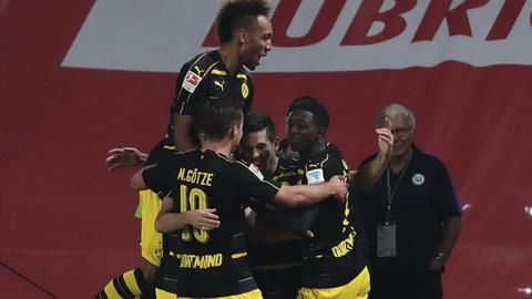 Clip ban thang Wolfsburg vs 1-5 Dortmund Bundesliga 201617 hinh anh