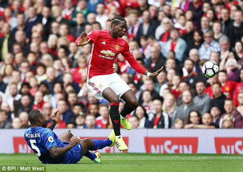 pogba manchester united leicester