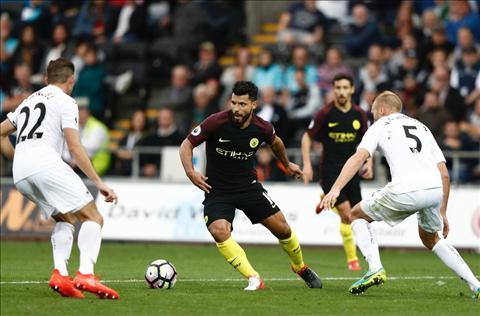 Du am tran dau Aguero va tran dau Swansea 1-3 Man City hinh anh 2