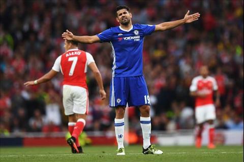 Arsenal vs Chelsea Costa
