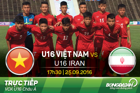TRUC TIEP U16 Viet Nam vs U16 Iran 17h30 ngay 259 (Tu ket U16 chau A) hinh anh