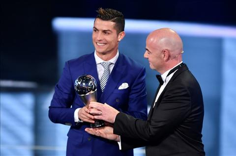 Diem tin bong da sang ngay 101 Ronaldo troll Barca va Messi tai Gala cua FIFA hinh anh