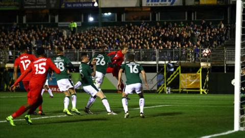 Tong hop Plymouth 0-1 Liverpool (Da lai vong 3 FA Cup 201617) hinh anh