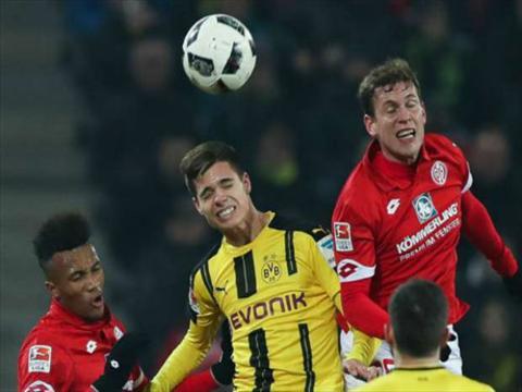 Tong hop Mainz 1-1 Dortmund (Vong 18 Bundesliga 201617) hinh anh