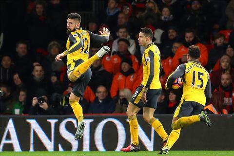 Goc nhin Tran hoa hut chet Bournemouth la lieu thuoc bo cho Arsenal hinh anh