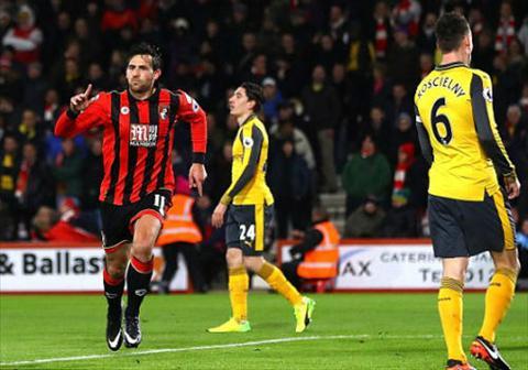 Tong hop Bournemouth 3-3 Arsenal (Vong 20 NHA 201617) hinh anh