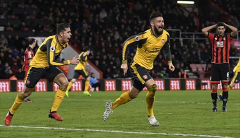Arsenal trai qua tran dau dien ro tren san cua Bournemouth. Anh: Reuters