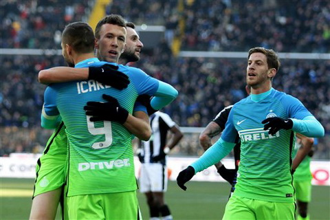 Tong hop Udinese 1-2 Inter Milan (Vong 17 Serie A 201617) hinh anh