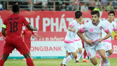 Hai Phong 0-1 Sai Gon Lach Tray that thu ngay mo man V-League 2017 hinh anh