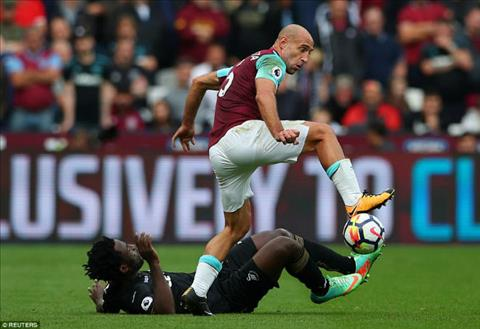 Tong hop West Ham 1-0 Swansea (Vong 7 NHA 201718) hinh anh