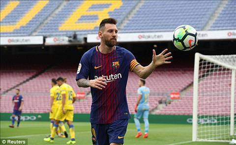 Messi da co 7 phut xuat than trong hiep 2 cho Barca khi gap Las Palmas
