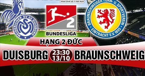 Nhan dinh Duisburg vs Braunschweig 23h30 ngay 1310 (Hang 2 Duc 201718) hinh anh
