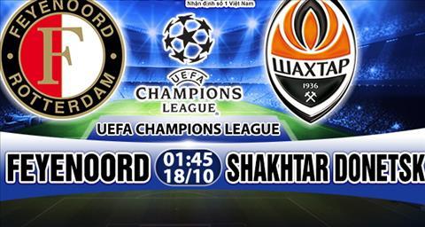 Nhan dinh Feyenoord vs Shakhtar Donetsk 01h45 ngay 1810 (Champions League 201718) hinh anh