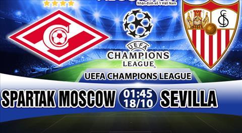 Nhan dinh Spartak Moscow vs Sevilla 01h45 ngay 1810 (Champions League 201718) hinh anh