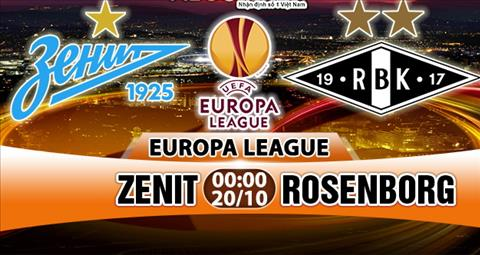 Nhan dinh Zenit vs Rosenborg 00h00 ngay 2010 (Europa League 201718) hinh anh