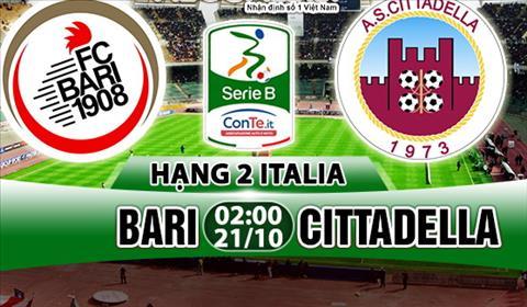Nhan dinh Bari vs Cittadella 2h00 ngay 2110 (Hang 2 Italia 201718) hinh anh