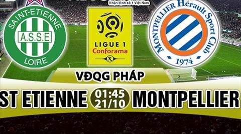 Nhan dinh StEtienne vs Montpellier 01h45 ngày 2110 (Ligue 1 201718) hinh anh
