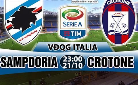 Nhan dinh Sampdoria vs Crotone 23h00 ngay 2110 (Serie A 201718) hinh anh
