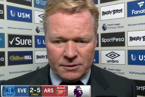 Koeman sau tran thua Arsenal 2-5