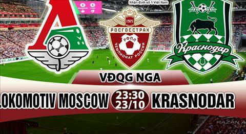 Nhan dinh Lokomotiv Moscow vs Krasnodar 23h30 ngày 2310 (VDQG Nga 201718) hinh anh
