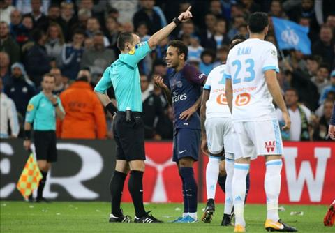 Neymar keu oan tam the do tran Marseille 2-2 PSG hinh anh