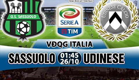 Nhan dinh Sassuolo vs Udinese 01h45 ngay 2610 (Serie A 201718) hinh anh