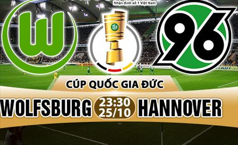 Nhan dinh Wolfsburg vs Hannover 23h30 ngay 2510 (Cup quoc gia Duc 201718) hinh anh