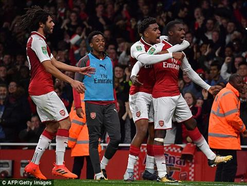 Tong hop Arsenal 2-1 Norwich (Vong 4 cup Lien doan Anh 201718) hinh anh