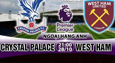 Nhan dinh Crystal Palace vs West Ham 21h00 ngày 2810 (Premier League 201718) hinh anh