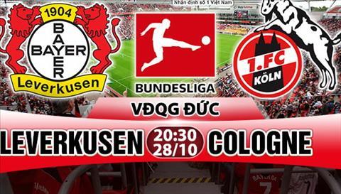 Nhan dinh Leverkusen vs Cologne 20h30 ngay 2810 (Bundesliga 201718) hinh anh