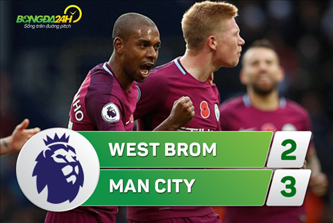 Tong hop West Brom 2-3 Man City (Vong 10 NHA 201718) hinh anh