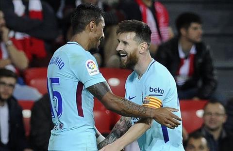 Paulinho va Messi o tran Bilbao 0-2 Barca