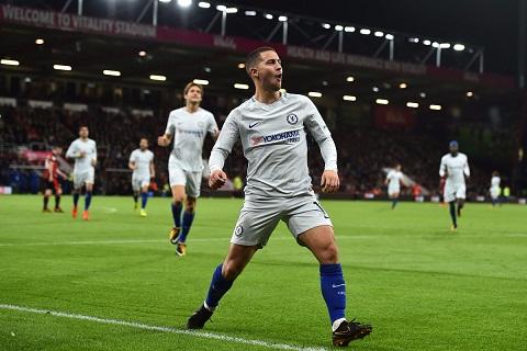 Real Madrid chốt Eden Hazard vào Hè 2018