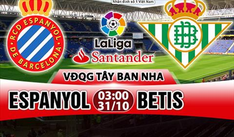 Nhan dinh Espanyol vs Betis 03h00 ngay 3110 (La Liga 201718) hinh anh