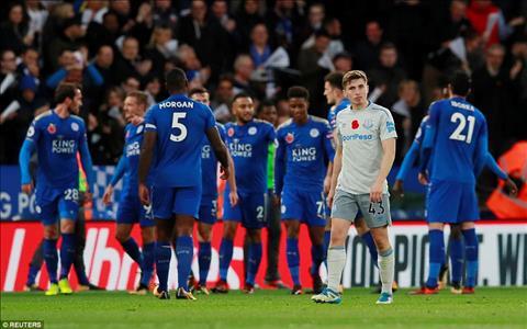 Tong hop Leicester 2-0 Everton (Vong 10 NHA 201718) hinh anh