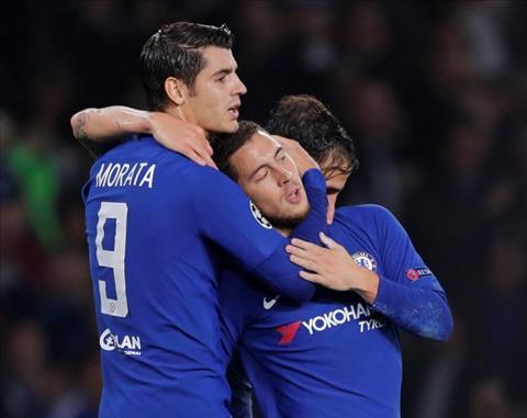 Morata muon Hazard tro giup de ghi ban vao luoi Roma
