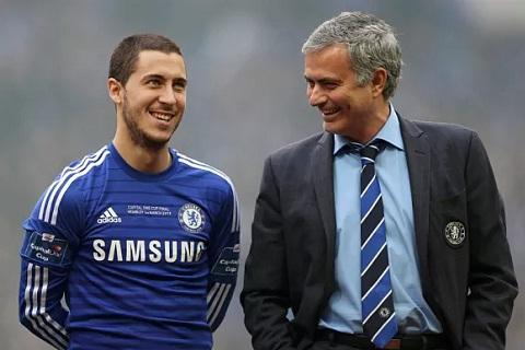 Eden Hazard va Jose Mourinho