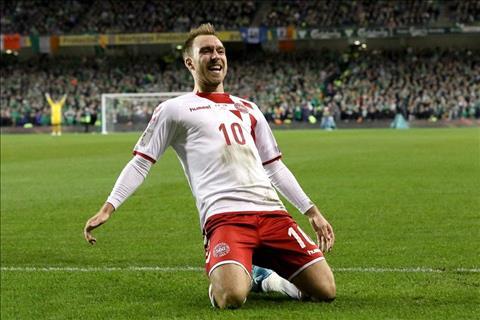 Ireland 1-5 (1-5) Dan Mach Hattrick cua Eriksen dua tuyen xu co tich toi Nga hinh anh