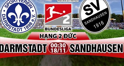 Nhan dinh Darmstadt vs Sandhausen 00h30 ngay 1811 (Hang 2 Duc 201718) hinh anh