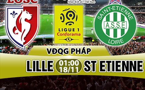 Nhan dinh Lille vs StEtienne 01h00 ngày 1811 (Ligue 1 201718) hinh anh