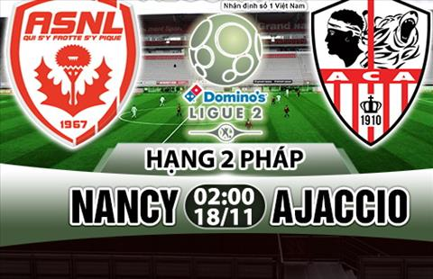 Nhan dinh Nancy vs Ajaccio 02h00 ngay 1811 (Hang 2 Phap 201718) hinh anh