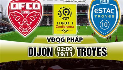 Nhạn dịnh Dijon vs Troyes 02h00 ngày 1911 (Ligue 1 201718) hinh anh