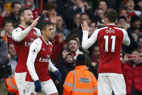 Alexis Sanchez va Mesut Ozil se o lai Arsenal hinh anh